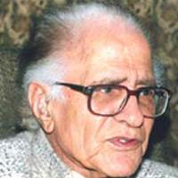"Ahmed Nadeem Qasmi, Pakistani Writer and Poet, journalist, critic, dramatist and a brilliant short story writer, fifty books , ""Funoon"", ""Phool"", ""Tehzeeb-i-Niswaan"", ""Adab-i-Lateef"", ""Savera"", ""Naqoosh"" and 'Daily Imroze"", ""Ghar Se Ghar Tak"", ""Kapaas Ka Phool"" and ""Bhoot"", ""Gandasa"", ""The Feed"""