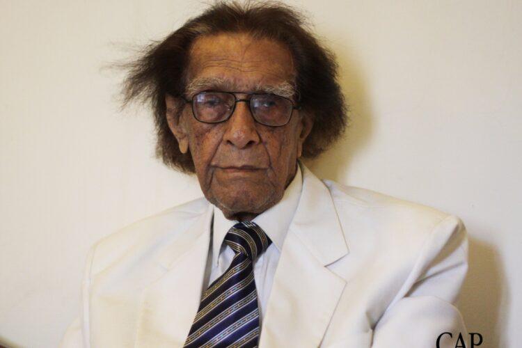 "Mashkoor Hussain, eminent poet, writer and educational expert, ""Azadi Ke Chiragh"" , ""Lahaula Walaquwata"", ""Nighedasht"", ""Bardasht"", ""Ghalib Botiqa"", ""Goongi Nazmein"", ""Mutala-e-Dabeer"" and ""Meer Anees Ki Shairana Baseerat"""