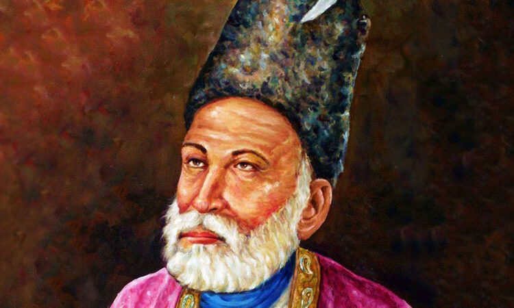 Mirza Ghalib, last greatest poet of the Mughal Empire, poetry based on large number of topics, Ghalib is painted all over his ghazals.