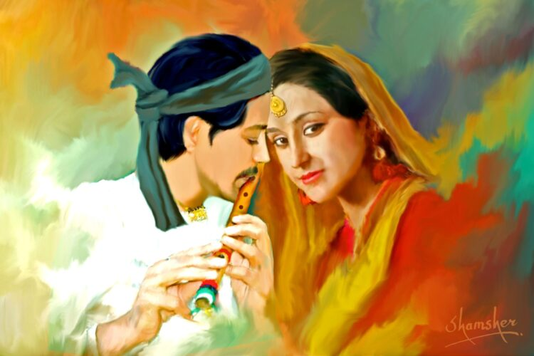 Heer Ranjha, one of several popular tragic romances of Punjab,