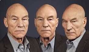 Patrick Stewart, whose work has included roles on stage, television, and film, in a career spanning six decades.