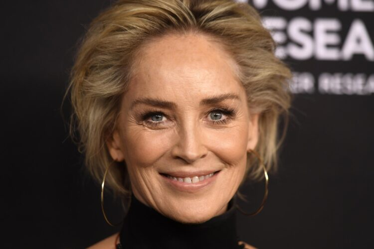 Sharon Stone, an American actress, producer, and former fashion model.