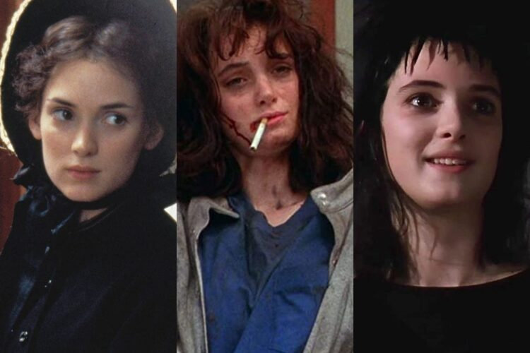 Winona Ryder, she gained attention with her performance in Tim Burton's Beetlejuice.