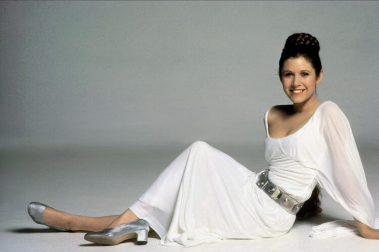 Carrie Fisher, Fisher is known for playing Princess Leia in the Star Wars films, a role for which she was nominated for four Saturn Awards.