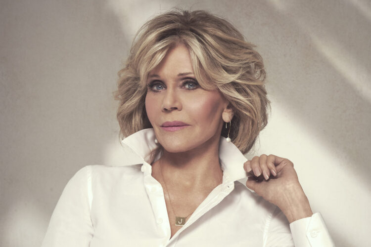 Jane Fonda, an American actress, political activist, and former fashion model.