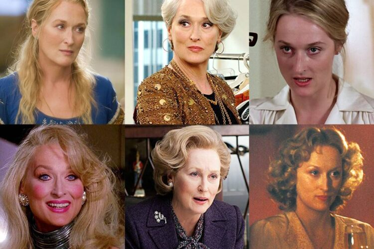 Meryl Streep, Streep is particularly known for her versatility and accents. Nominated for a record 21 Academy Awards, she has won three.