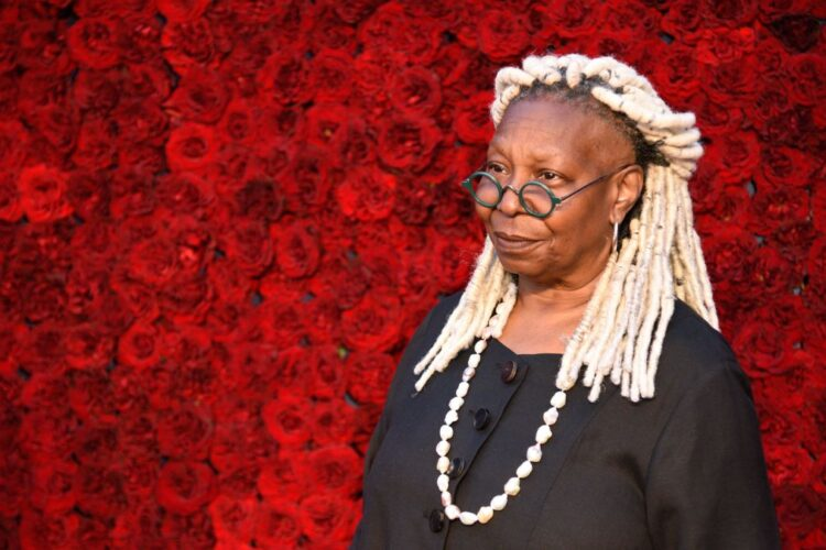 Whoopi Goldberg, an American actor, comedian, author, and television personality. A recipient of numerous accolades,