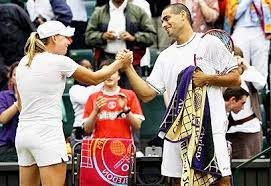 Andy Ram -Vera Zvonareva, Ram first won the mixed doubles title at the 2006 Wimbledon Championships, together with Vera Zvonareva.