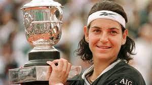 Arantxa Sánchez Vicario, a Spanish former world No. 1 retired tennis player. She won 14 Grand Slam titles