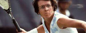 Billie Jean King, an American former World No. 1 professional tennis player.