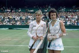 Billie Jean King and Chris Evert-Lloyd, Chris Evert was a 16-year-old schoolgirl when she first played Billie Jean King in a Grand Slam.