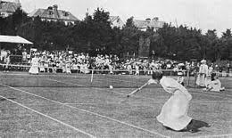 Blanche Bingley, an English tennis player. She won six singles Wimbledon championships and was runner up seven times,