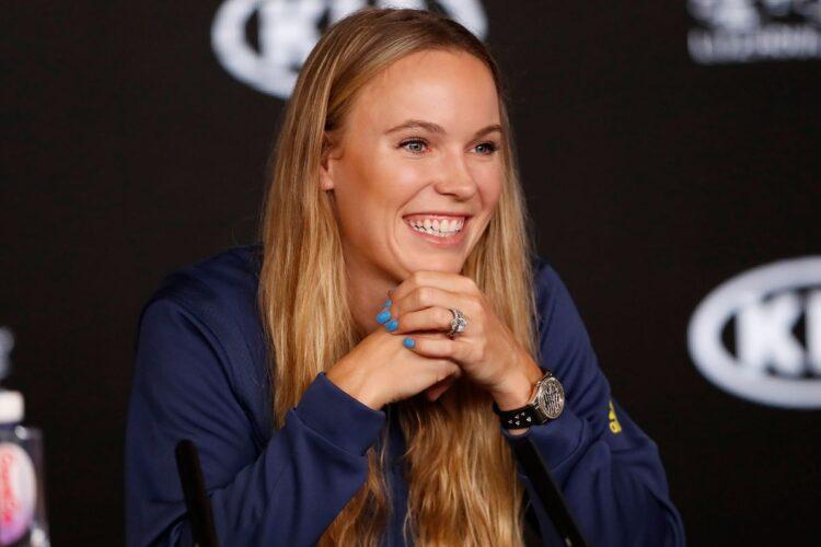 Caroline Wozniacki, a retired Danish tennis player.