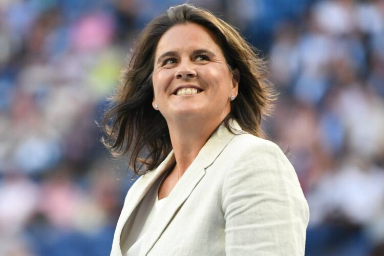 Conchita Martinez, a former professional tennis player. She was the first Spanish player to win the women's singles title at Wimbledon,