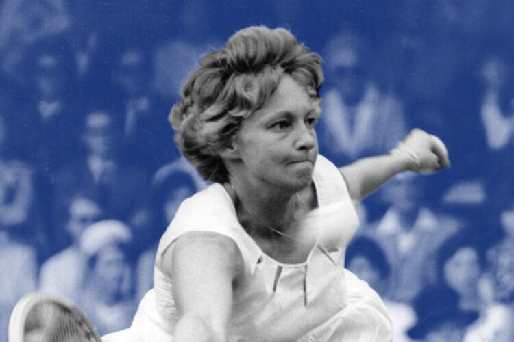 Darlene Hard, a former professional tennis player from the U.S. Known for her volleying ability and strong serves,