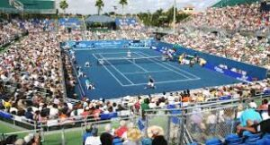 Delray Beach Open, an ATP World Tour 250 series men's professional tennis tournament held each year in Delray Beach, Florida, United States, and played on hard courts.