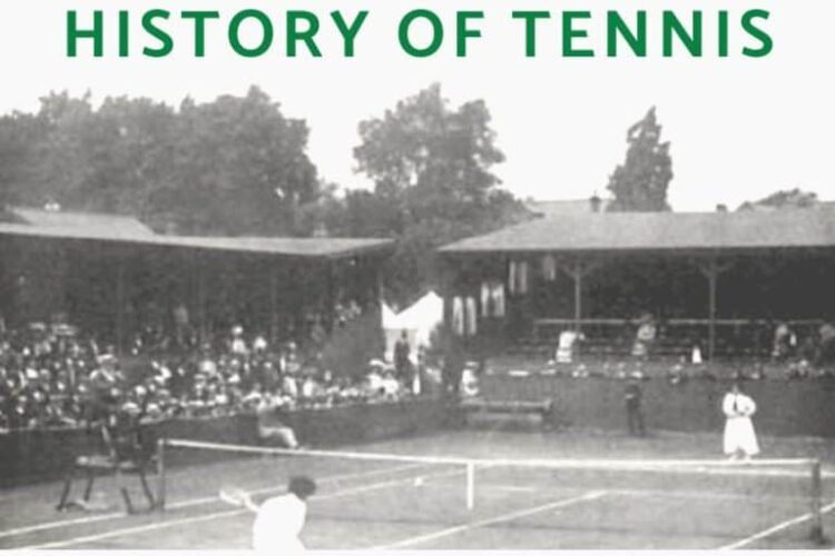 """The origins of the game can be traced to a 12th–13th-century French handball game called jeu de paume (""""game of the palm""""), from which was derived a complex indoor racket-and-ball game: real tennis."""