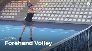 How-to-play-a-tennis-forehand-volley, For a forehand volley, with elbows forward, preparation involves simply opening the wrist.
