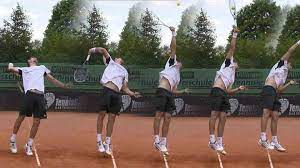 How-to-serve-in-tennis, A good way to decide a serving position is to align your body in a straight-line in the intended direction of your serve.
