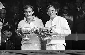John Newcombe-Tony Roche, Newcombe's powerful serve and volley was the backbone of his attacking game.
