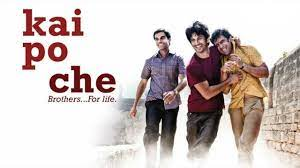Kai Po Che 2013, Three friends start an academy to train aspiring cricketers. But before they realise their goals, they experience an earthquake, an unstable political situation and communal riots.