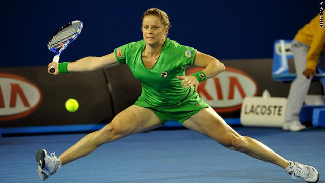 Kim Clijsters, a Belgian professional tennis player.