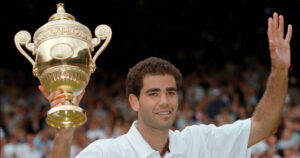 Pete Sampras, an American former professional tennis player. His professional career began in 1988 and ended at the 2002 US Open,