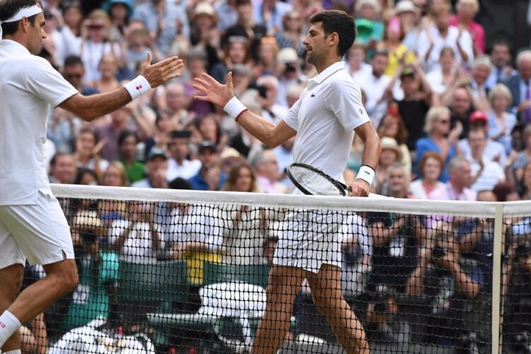 Rafael Nadal and Roger Federer in the 2008 Wimbledon final. The game lasted for a record of 4 hours and 48 minutes ending up with Rafael Nadal as the new world champion.