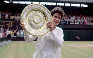 Maria Bueno, a Brazilian professional tennis player. During her 11-year career in the 1950s and 1960s, she won 19 Grand Slam titles,