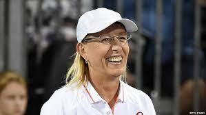 Martina Navratilova, a Czech-American former professional tennis player and coach.