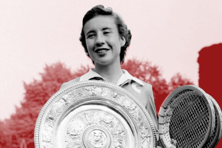 Maureen Connolly, an American tennis player, the winner of nine major singles titles in the early 1950s.