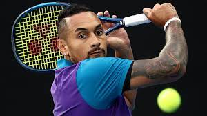 Nick Kyrgios, an Australian professional tennis player. As of June 2021, he is ranked No. 60 in the world
