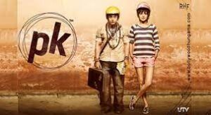 PK, An innocent alien lands on Earth but loses his communication device.