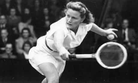 Pauline Betz, an American professional tennis player. She won five Grand Slam singles titles and was the runner-up on three other occasions.