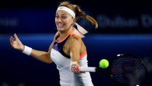 Petra Kvitová, a Czech professional tennis player. Known for her powerful left-handed groundstrokes and variety,