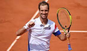 Richard Gasquet, a French professional tennis player. His career-high ATP singles ranking is world No. 7,