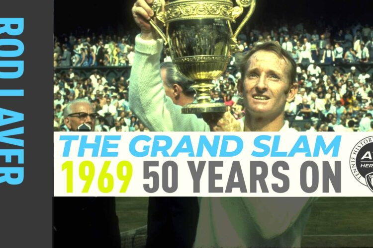 Rod Laver, an Australian former tennis player. Laver was ranked world No. 1 in nine different years,