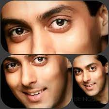 Salman Khan eyes, His eyes are soft, romantic, full of emotions, and very attractive.