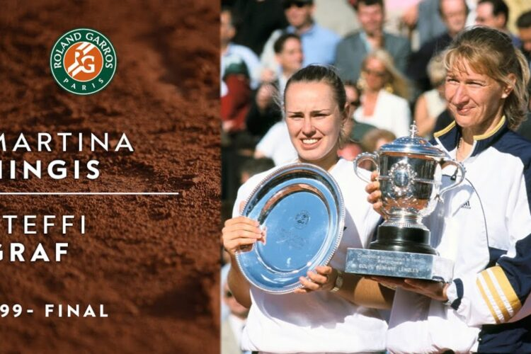 Steffi Graf defeats top-seeded Martina Hingis in final of French Open, Paris