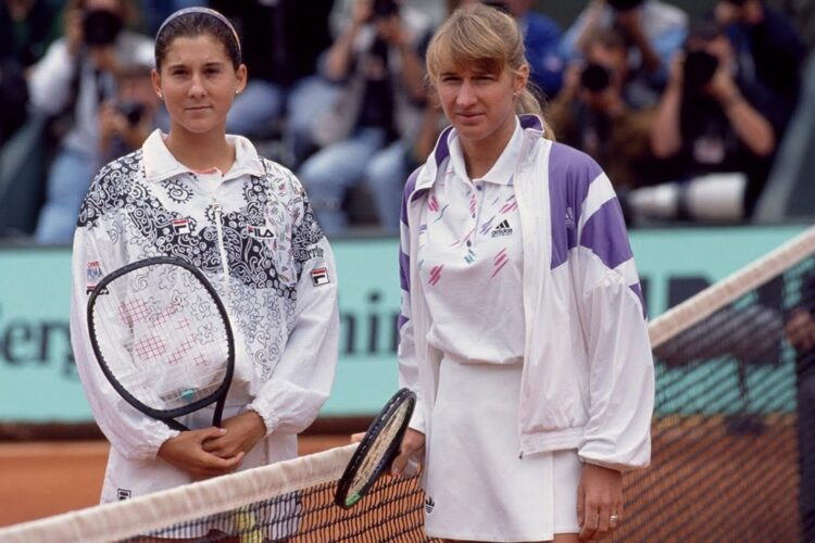 Monica Seles ended Steffi Graf's 66-match winning streak when she won the German Open.