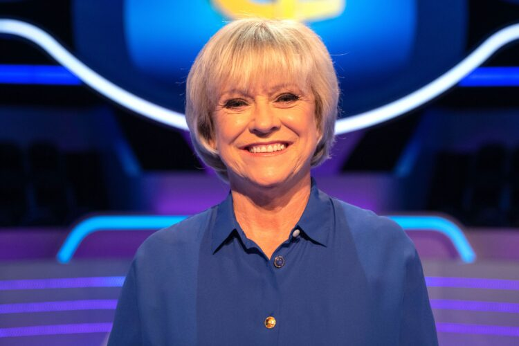 Sue Barker, an English television presenter and former professional tennis player.