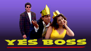 Yes Boss, Rahul's boss Siddharth is a womaniser who blackmails Rahul into helping him win over Seema.