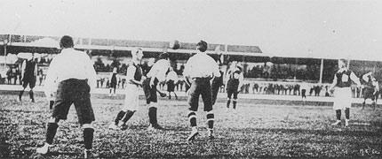At the 1900 Olympics, a football contest was conducted for the first time in Olympic history.