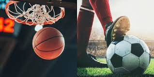 both aim for the same objective, a struggle to get the ball into the goal post in soccer and the net in basketball.
