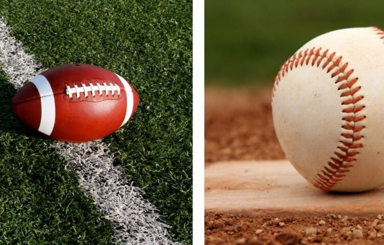 football and baseball require strong legs and stamina at the same time.