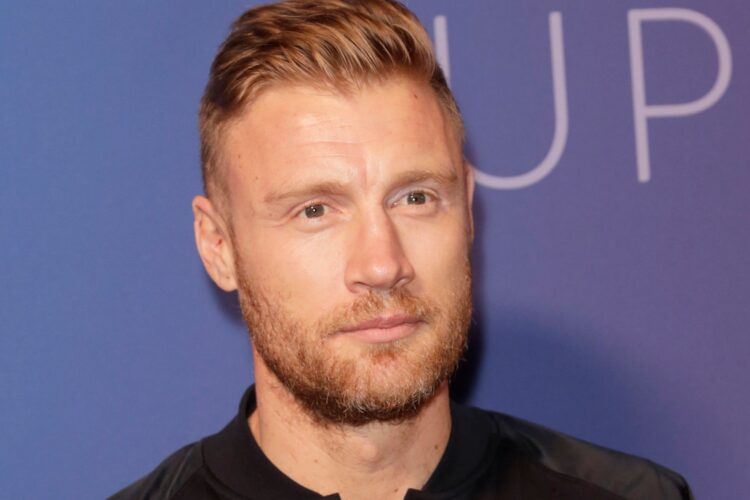 Andrew Flintoff, an English television and radio presenter and former international cricketer.