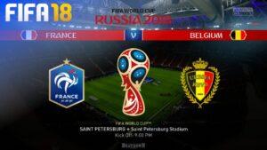European neighbours Belgium in the semi-final in St Petersburg