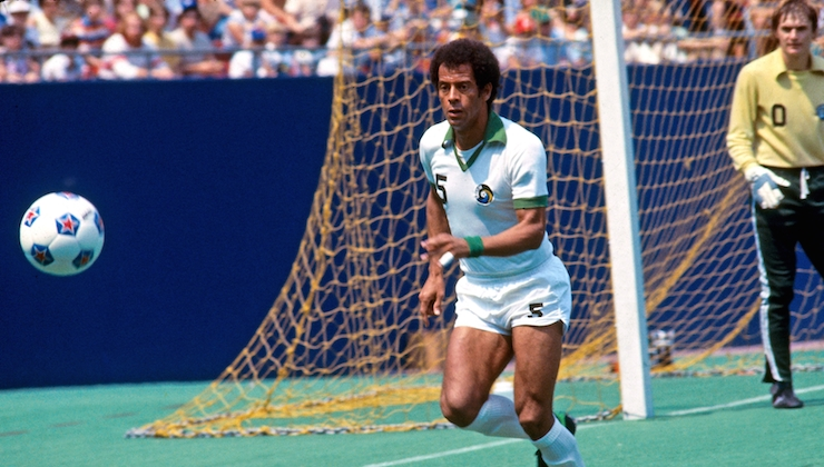 Carlos Alberto Torres, a Brazilian football player and manager who played as an attacking right-sided full-back or wing-back.