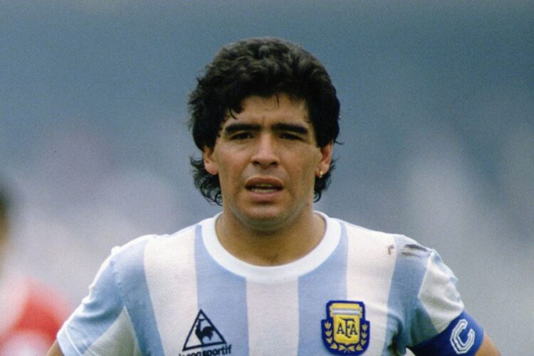 Diego Maradona, an Argentine professional footballer and manager.