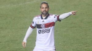 Diego Ribas, a Brazilian professional footballer who plays as a midfielder and captains Brazilian club Flamengo.